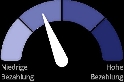 Barometer zeigt an wo Sie mit Ihrem Gehalt liegen.