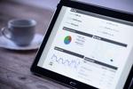 Tablet mit Google Analytics