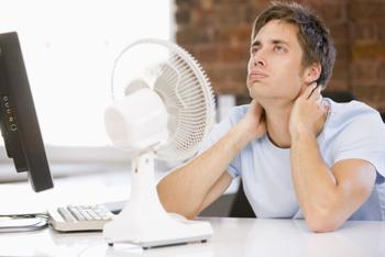 Hitze im Büro