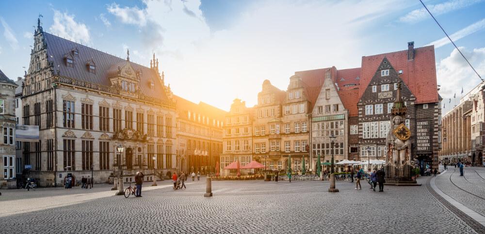 Die Handelskammer Bremen am Bremer Marktplatz.