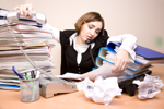 Frau Multitasking