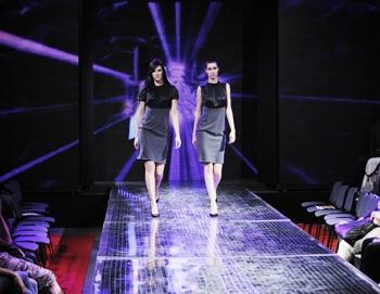 Models auf dem Laufsteg