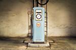 Shell Retro-Zapfsäule Tankstelle
