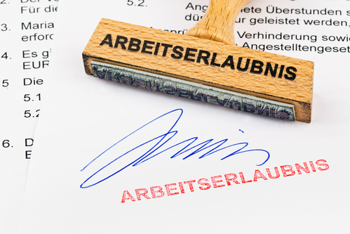 Stempel Arbeitserlaubnis