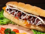 Ein belegtes Sandwich von Subway